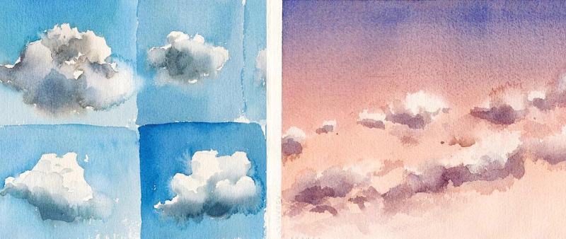 Wolken: Gefährten des Himmels - Aquarell Basics