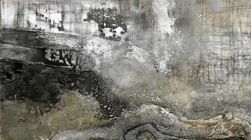 Abstrakte Malerei im großen Format