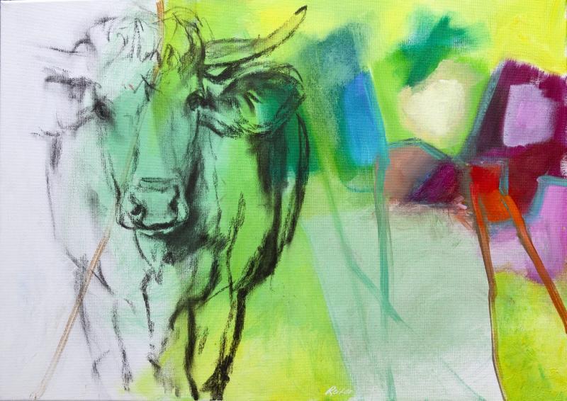 Acrylmalerei und Zeichnung