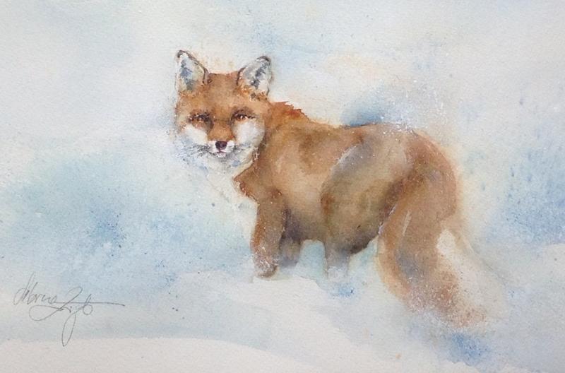 Tiere im Schnee