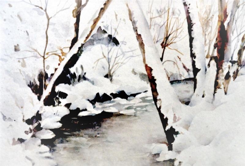 *Das Licht macht's! Schneelandschaften in Aquarell