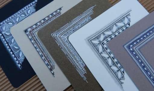 Zentangle® - Schön gerahmt mit tollen Mustern